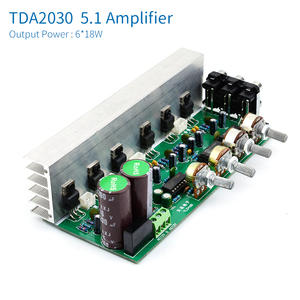 Image 2 - UNISIAN TDA2030 5.1 Channel  Audio Amplifier Board 6*18W 6 channels Surround Center Subwoofer Power Amplifiers For Home Theater