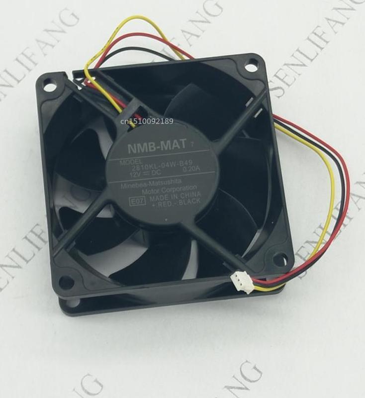 Free Shipping Original 2810KL-04W-B49 E08 12V 0.20A 7cm 7025 3 Wire Projector Fan
