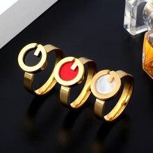 Msx Золотое кольцо из нержавеющей стали модные черные красные