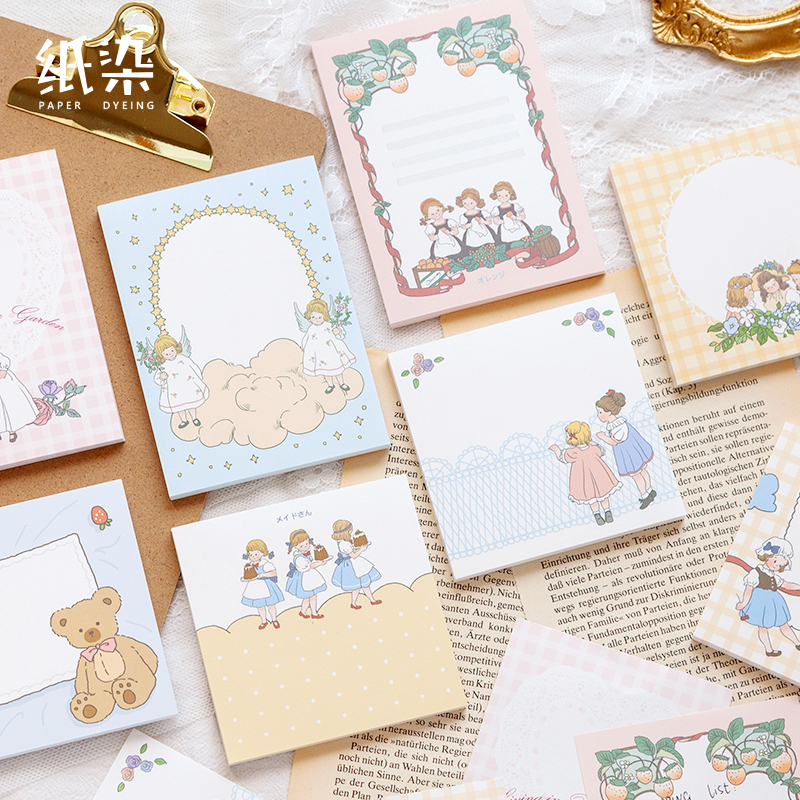 8PCS/LOT Peach Clamp Series Lovely Fresh Message Paper Memo Pad