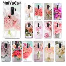 MaiYaCa Pink Flower Peony On The Vase Soft Silicone Transparent Phone Case for Samsung S5 S6 edge plus S7 S8 Plus S9