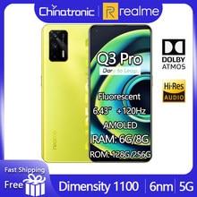 Oryginalny telefon komórkowy realme Q3 Pro 5G 128GB 6.43