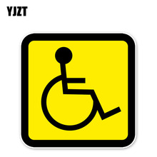 YJZT 11.6*11.6CM Attention Security Sign Disability Disabled Reflective Personality Decal Car Stickers Accessories C30-0365