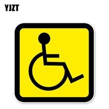 YJZT 11.6*11.6CM uwagę na znak bezpieczeństwa osób niepełnosprawnych osób niepełnosprawnych odblaskowe osobowość naklejka naklejka na samochód naklejki akcesoria C30-0365