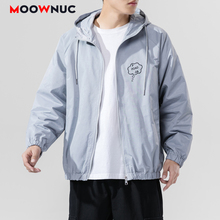 Hombre Coats Outerwear New Jackets Loose Hip Hop Printed Hat Men's Clothes Spring Dress Boys Kpop Fashion Casual MOOWNUC MWC