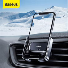 Baseus  Car Phone Holder Mini Electric Gravity Magnetic Holder Air Outlet Mobile Phone Clip Holder For iPhone 11X XS  Samsung S9