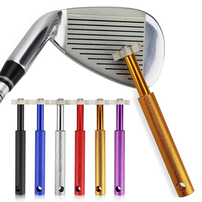 Golf Club Sharpener With 6 Heads Re-Grooving Tool Golf Cleaner For Wedges Irons New