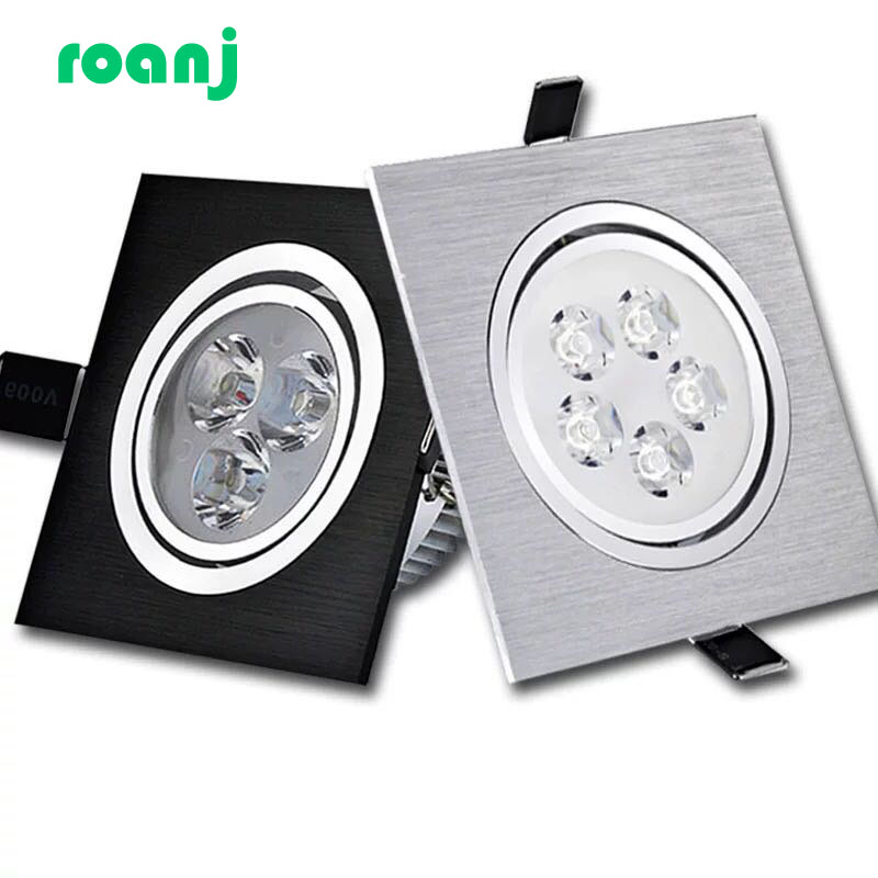 Dimmable LED Downlight COB Spotlight Ceiling Light AC85-265V 6w10w14w Recessed Downlight Squar Led Panel Light