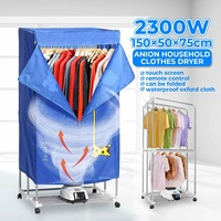NEW 2300W Electric Cloth Dryer With Wheel Remote Household Portable Baby Cloth Shoes Boots Dryer Power Motor Drying Warm Laundry