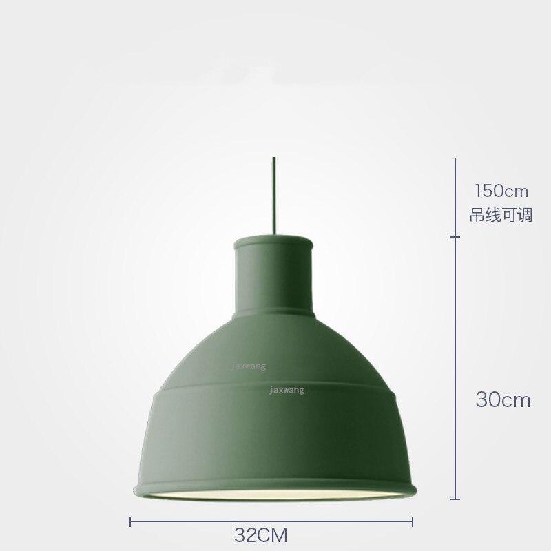 Новинка, подвесной светильник в скандинавском стиле, для столовой, макарон, s, смоляный светильник, светильники, кухонные подвесные лампы, подвесной светильник для гостиной, светодиодный, внутреннее освещение - Цвет корпуса: Green 32CM