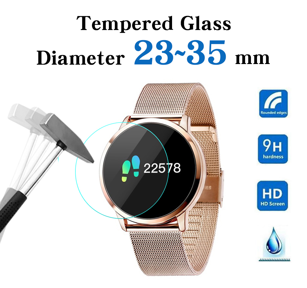Screen-Protector Watches Tempered-Glass Round 35-Mm Full-Size 34 for 26 27 28-29-30 31 title=