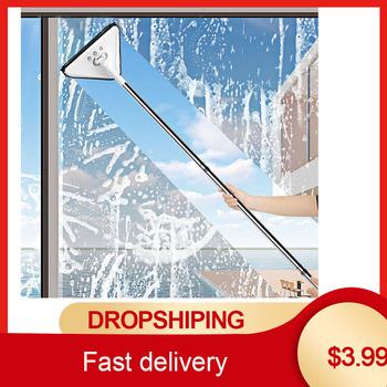 Wielofunkcyjny trójkąt Mop leniwy Mop do kurzu Mop do odkurzania w domu czyszczenie okien czyszczenie samochodu Mop wycieraczka do szyb urządzenia do oczyszczania tanie i dobre opinie CN (pochodzenie)