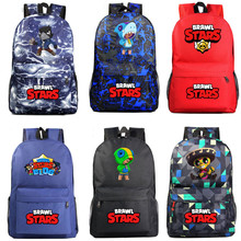 Brawling Stars Schoolbag LEON Surge Brawl Peluches Backpack School Student Adult Mens Student Book Bag Large Shopping Travel Bag