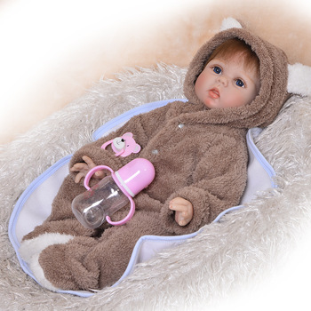 55cm Silicone cooton Body Reborn Dolls with soft plush clothes Lifelike Baby Newborn alive Bebes Reborn Doll Kid's Toy Christmas