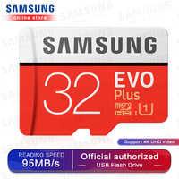 Samsung Micro Sd Scheda di Memoria Evo Più di 256 Gb 128 Gb 64 Gb 100 Mb/S Sdxc C10 U3 UHS-I Microsd carta di Tf 32 Gb per Smartphone E Tablet