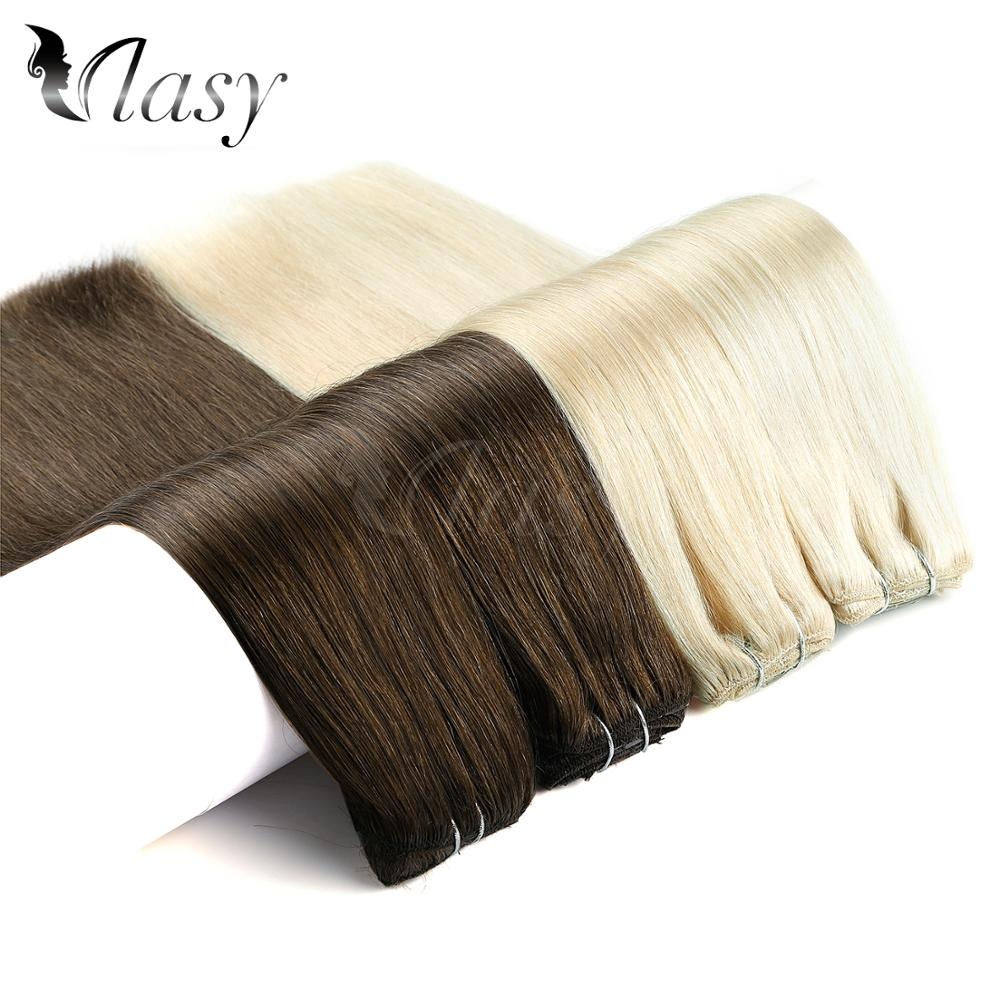 Vlasy 24'' Remy Clip In Extensions 7pcs/set 16 Clips Straight Double Drawn Full Head Set Clip In Human Hair Extensions 140g/pc
