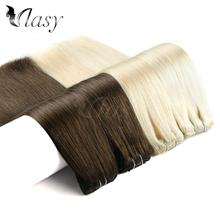 цена на Vlasy 24'' Remy Clip In Extensions 7pcs/set 16 clips Straight Double Drawn Full Head Set Clip In Human Hair Extensions 140g/pc