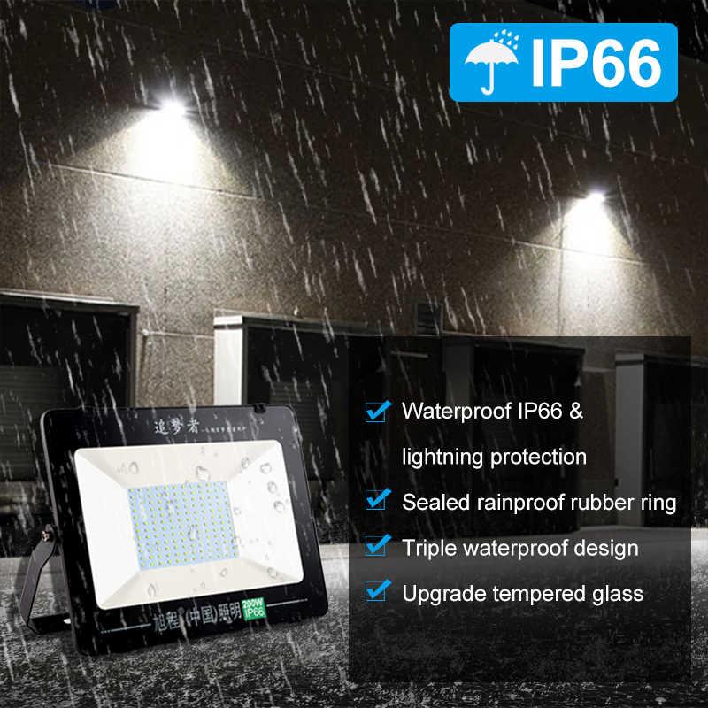 Led Luz de inundación 10W 20W 30W 50W 100W 200W 300W 400W 500W AC220V impermeable IP66 Led foco Reflector estadio luces al aire libre