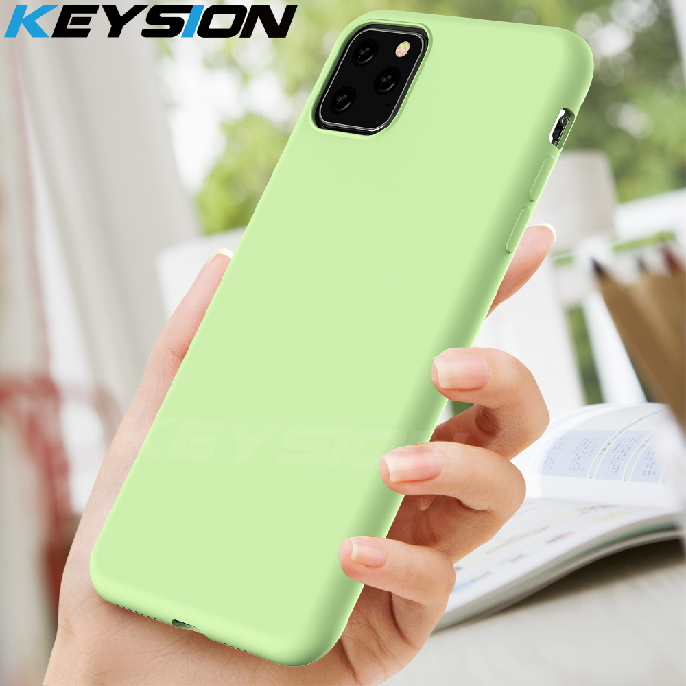 KEYSION Liquid Silicone Case for iPhone 11 Pro 11 Pro Max Soft Shockproof Phone Cover for iPhone 1111 Pro 6 6s 7 8 Plus X XS XR