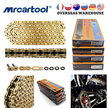 MR CARTOOL Motorcycle Oil Seal Chain Sets For 428 520 525 530  DID Chains 120 136 Links Cafe Racer Motocross Accessories