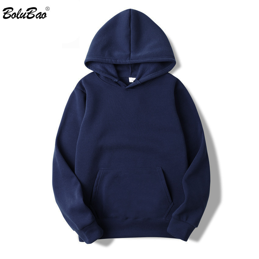 BOLUBAO Casual Hoodies Sweatshirts Tops Spring Autumn Male Solid-Color Men's