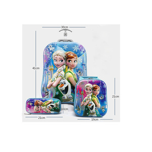 Image 5 - 2018 新子供のバックパック子供の学校のバックパックとホイールトロリー荷物子供のバックパック子供のギフトバッグ