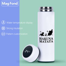 Lion 500ML Thermos Vacuum Flasks Temperature Display Stainless Steel Water Bottle Travel Coffee Tea Milk Mug Thermoes Cup Warm stainless steel thermoes vacuum flasks insulation mug cup fashion popular mug travel thermoses coffee and lovers cups 320ml