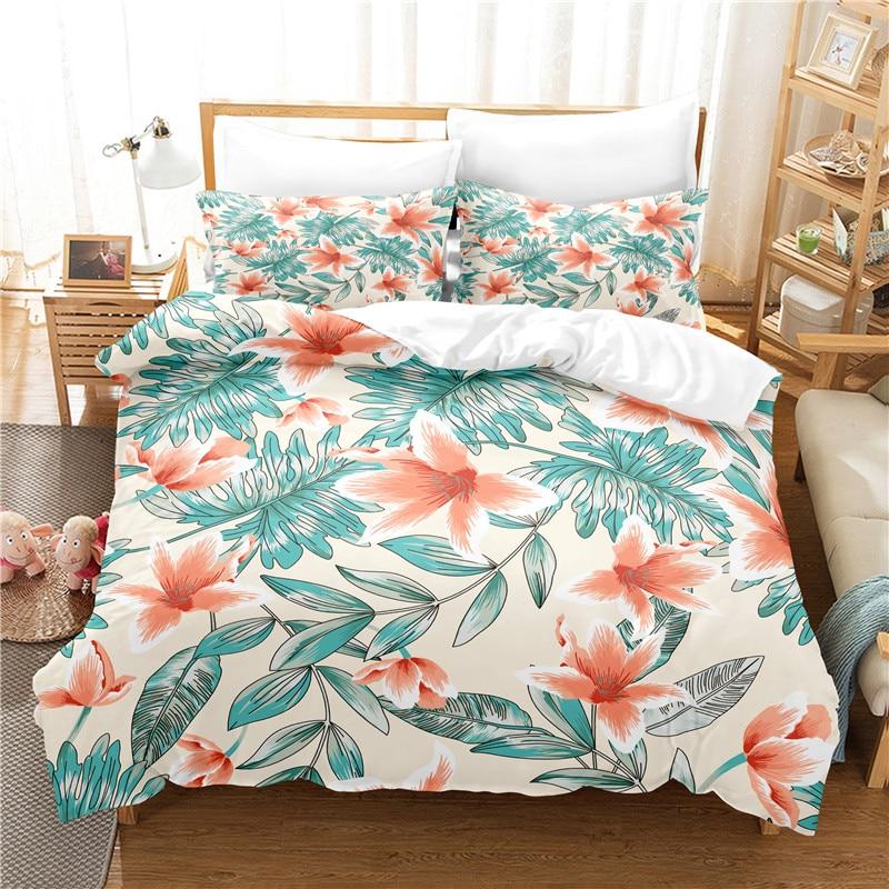 Beautiful Flower Bedding Set Duvet Cover Set 3d Bedding Digital Printing Bed Linen Queen Size Bedding Set Fashion Design