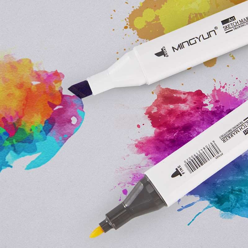 Top SaleArt-Marker-Pens Pen-Brush Watercolor Drawing-Painting School-Supplies Dual-Tip 04379