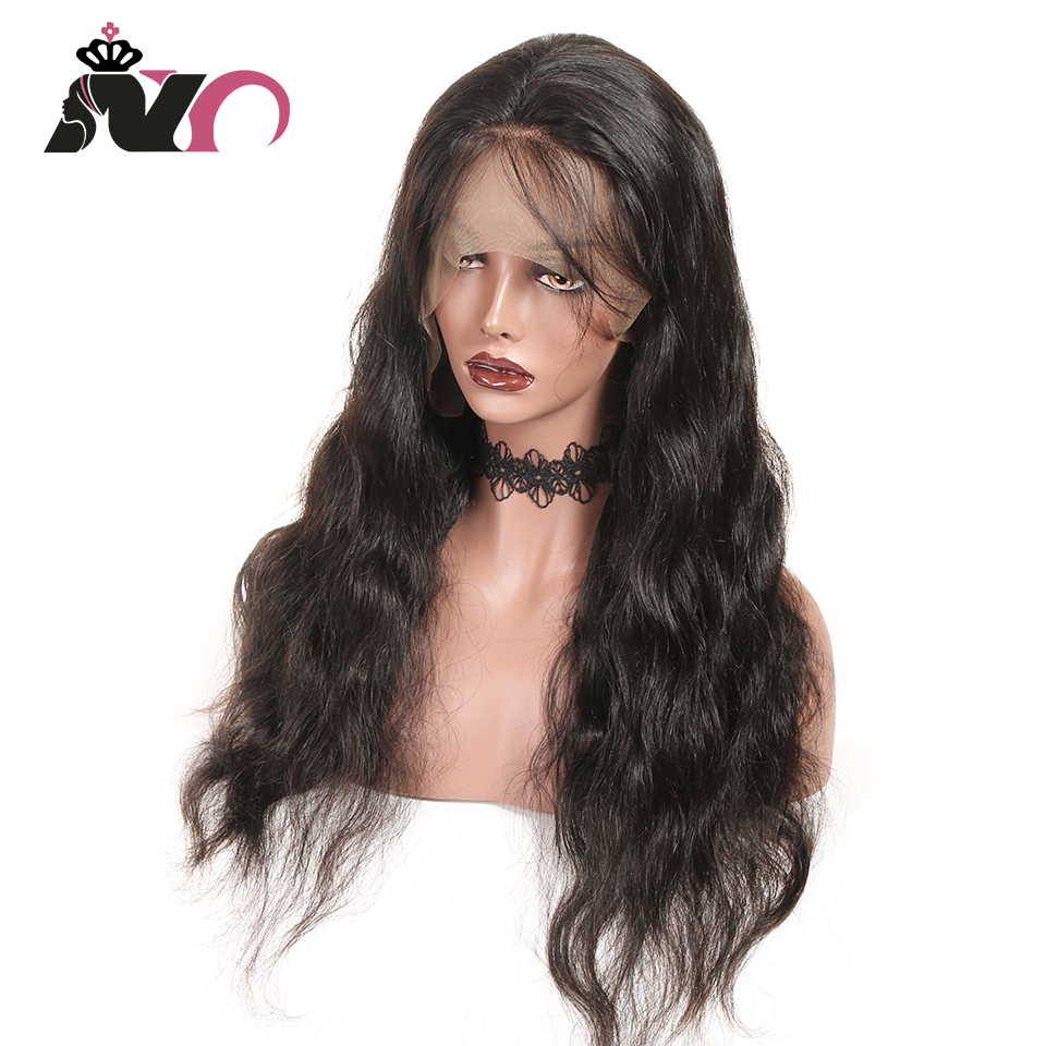 NY Body Wave Lace Front Human Hair Wigs Brown Lace Front Wig Pre Plucked Human Hair Peruvian Non-Remy 13*4 Lace Frontal Wigs
