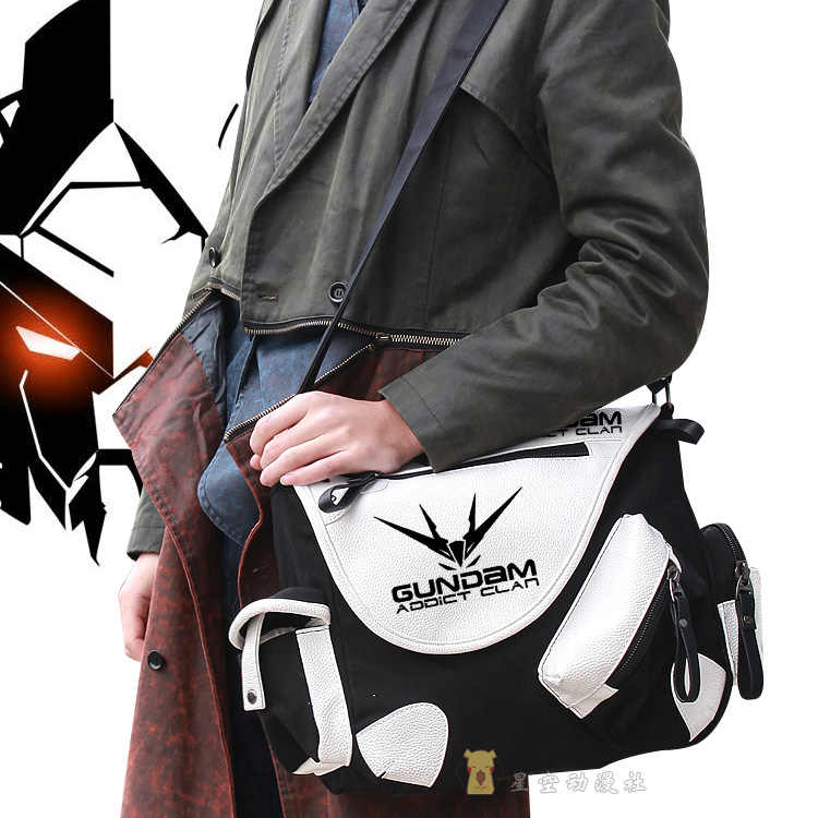 Anime GUNDAM 08MS Cosplay Waist Bag Crossbody Shoulder Bags Student knapsack