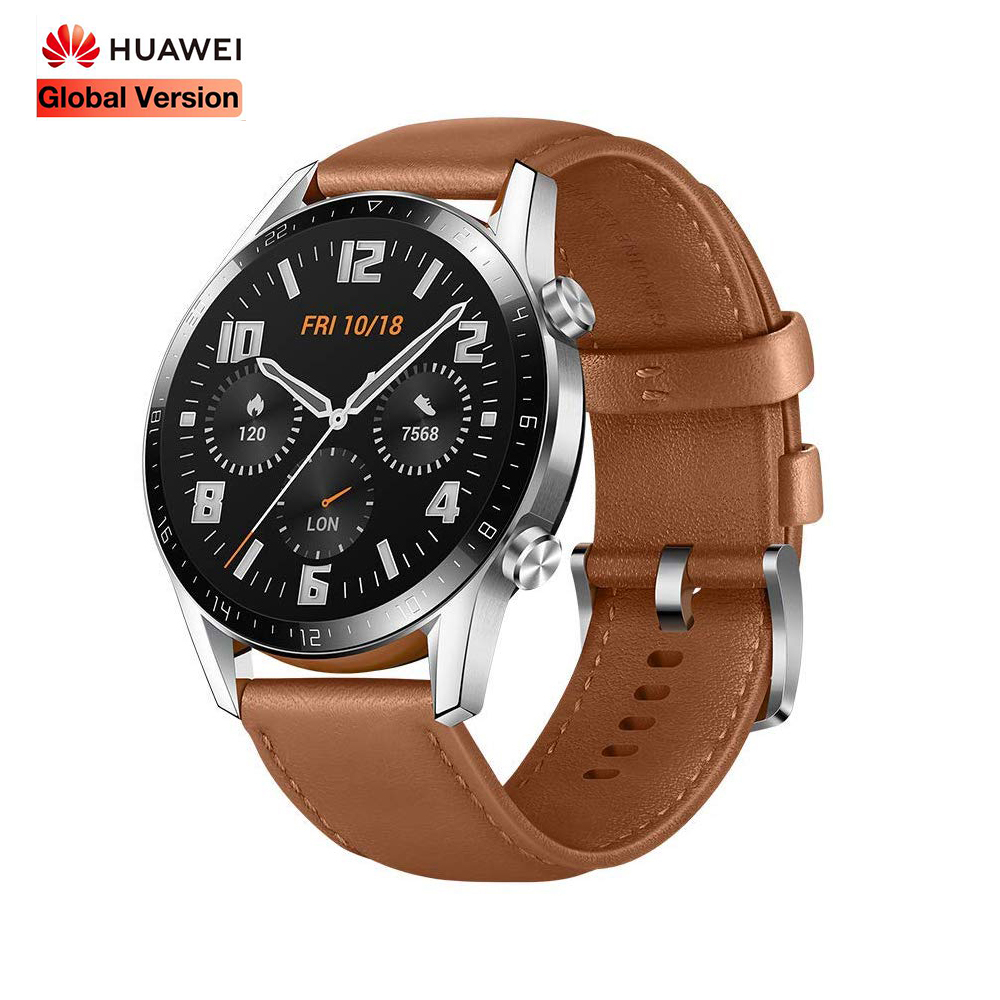 Global <font><b>HUAWEI</b></font> <font><b>Watch</b></font> GT2 <font><b>GT</b></font> <font><b>2</b></font> Smart Call Heart Rate Tracker Smart <font><b>Watch</b></font> Support GPS Man Sport Tracker SmartWatch For Android IOS image