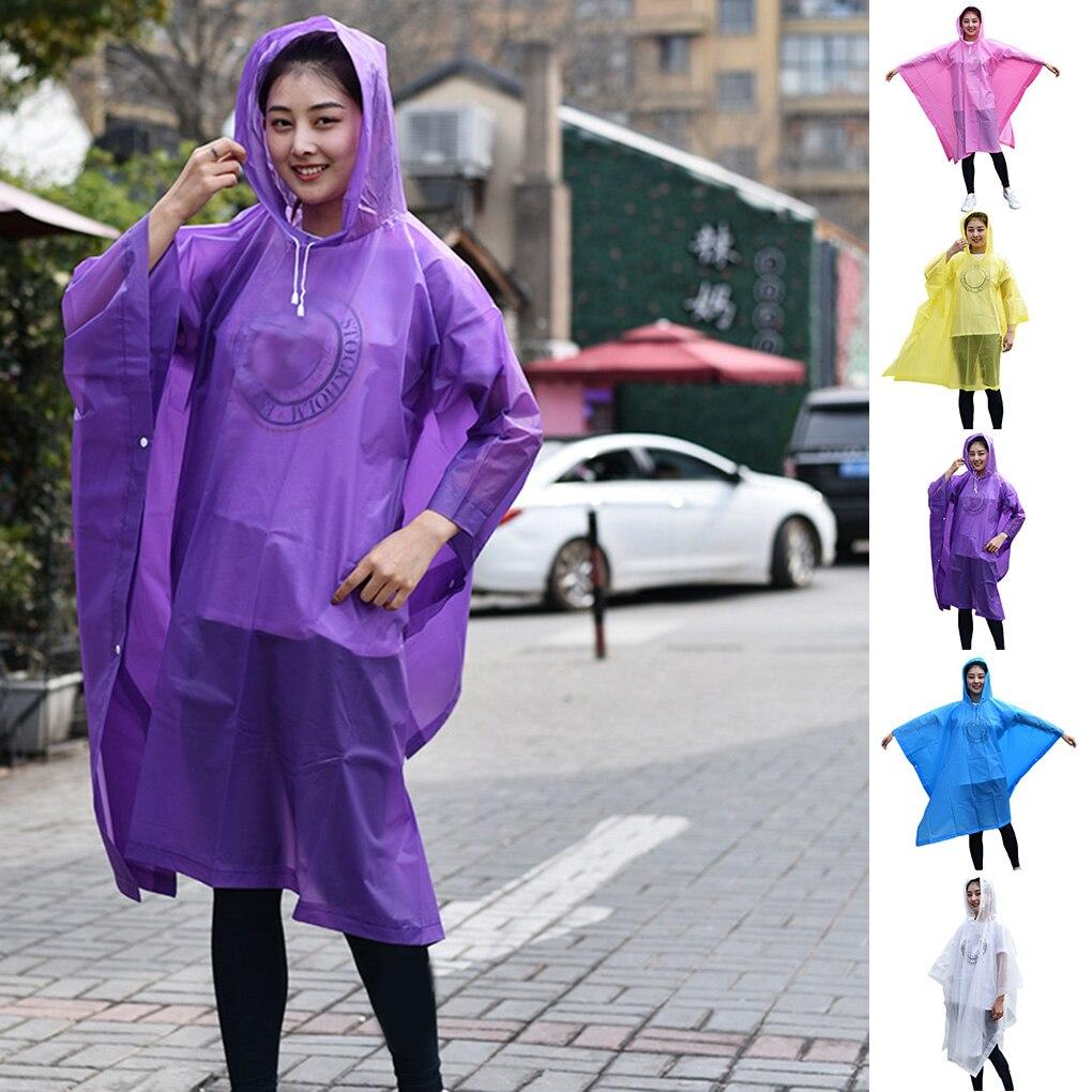 Raincoat Motorbike Electric Scooter EVA Non-disposable Rain Clothes Women Men Lightweight Rain Cape