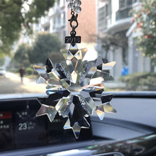 Car hanging accessories transparent crystal christmas car decoration ornament car accessories for girls