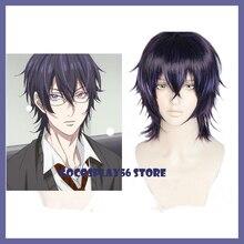 Anime Yarichin Bitch Bu Club Itsuki Shikatani Purple Wig Cosplay Synthetic Heat Resistant Halloween Role Play