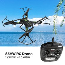 New S5HW Smart RC Drone Aircraft UAV with Wifi FPV 720P HD Real-time Camera RC plane Altitude Hold 3D Flips Headless Mode f16107 8 mjx x300c fpv rc drone 2 4g 6 axle headless mode rc uav quadcopter with built in hd camera support real time video fs