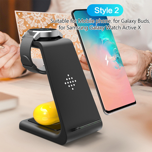 Image 3 - 3 in 1 Wireless Charger For iPhone Samsung Wireless Charger Stand for Aipods Iwatch 5 Charger Dock for Samsung Watch Galaxy Buds