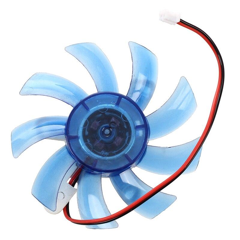 vga וידאו כרטיס כרטיס הפלסטיק הכחול 12VDC 75mm VGA וידאו קירור מאוורר למעבד עבור מחשב (2)