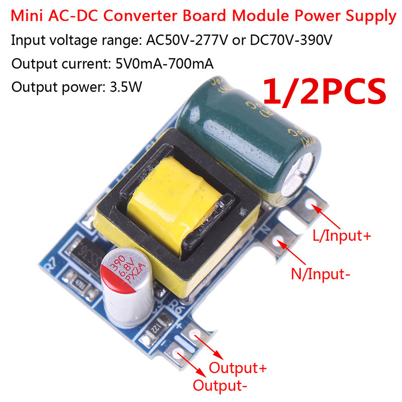 Hot! 1/2/5PCS Mini AC-DC 110V 120V 220V 230V To 5V 12V Converter Board Module Power Supply Wholesale image