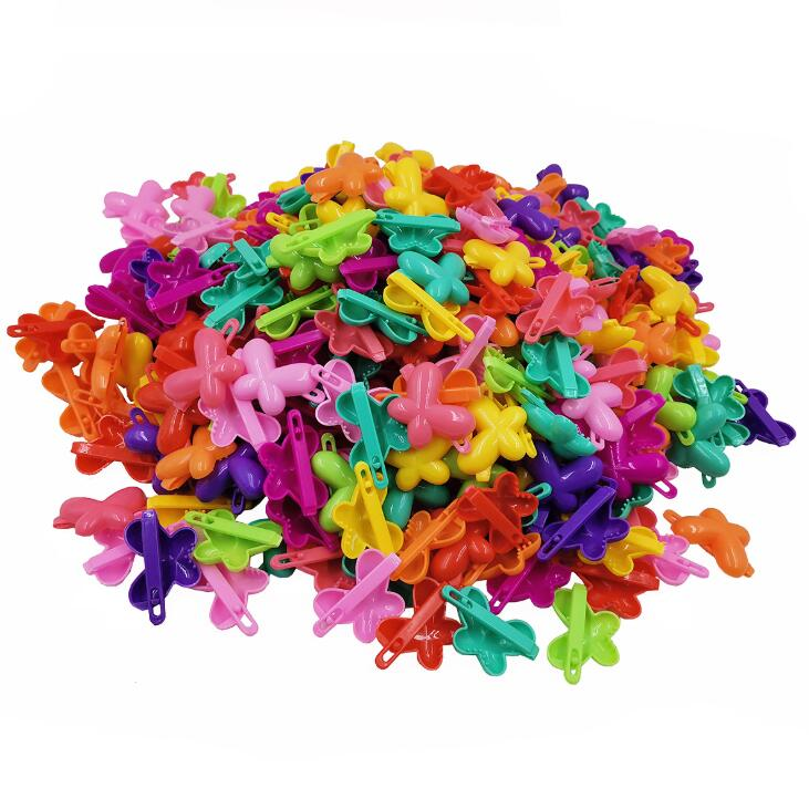 20 PCS/lots Mix Color Crab Flower Butterfly Heart Bow Hair Claw Plastic Mini Hairpin Clip Barrettes For Girls Accessories