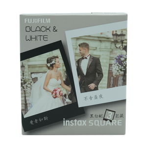 Image 2 - Fujifilm Instax Mini 30 Sheets Black+White Edge Film Photo Paper For Fujifilm Instax SQUARE SQ20 SQ10 SQ6 Instant Film Paper