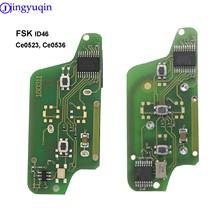 Para Citroen C2 C4 C5 C6 Picasso 2008 para Peugeot 207, 307, 308, 407, 607 a control remoto placa de circuito electrónico botón 3 Ce0536