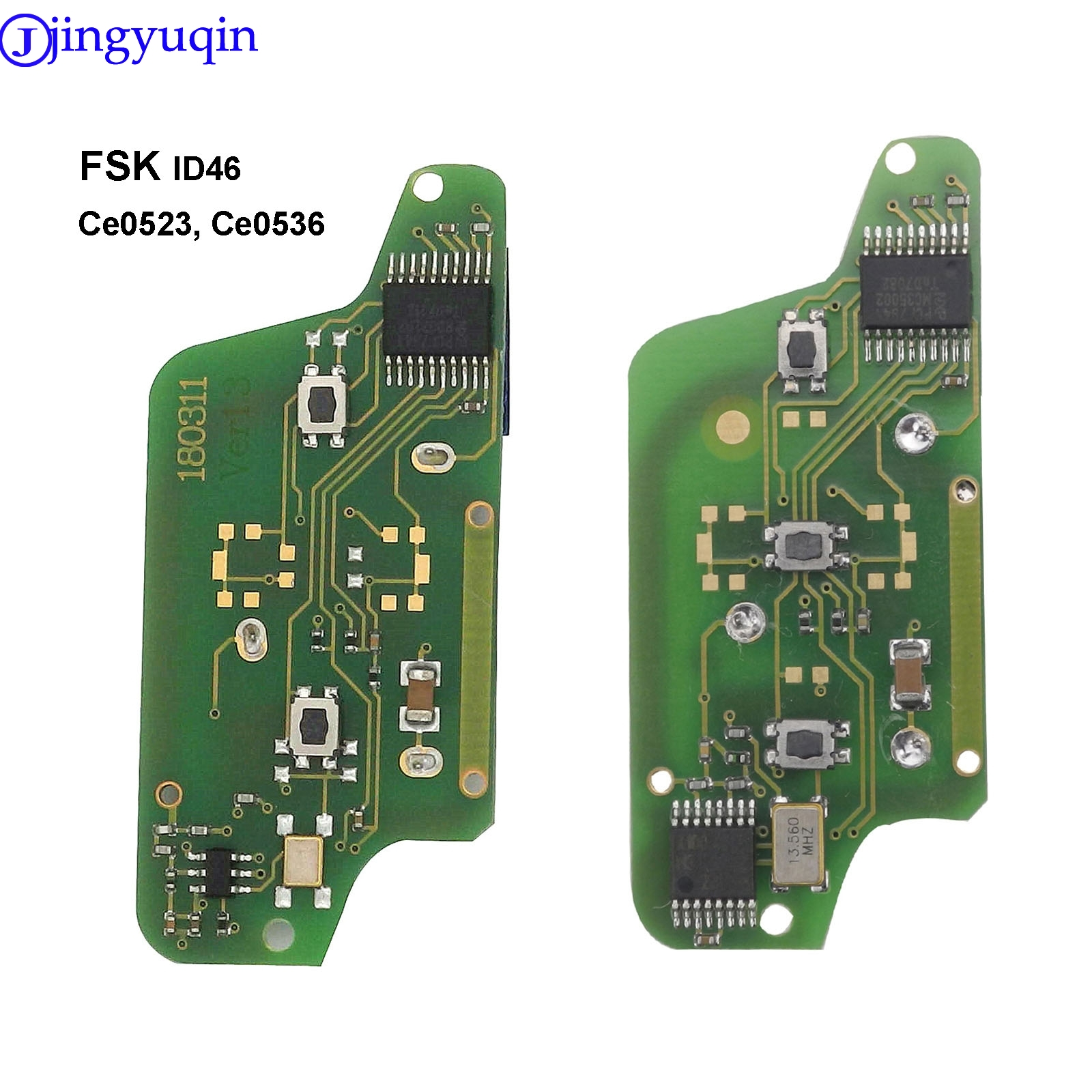 for Citroen C2 C4 C5 C6 Picasso 2008 For <font><b>Peugeot</b></font> 207 307 308 407 607 ASK Remote <font><b>Key</b></font> Electronic Circuit Board 3 Button Ce0536 image