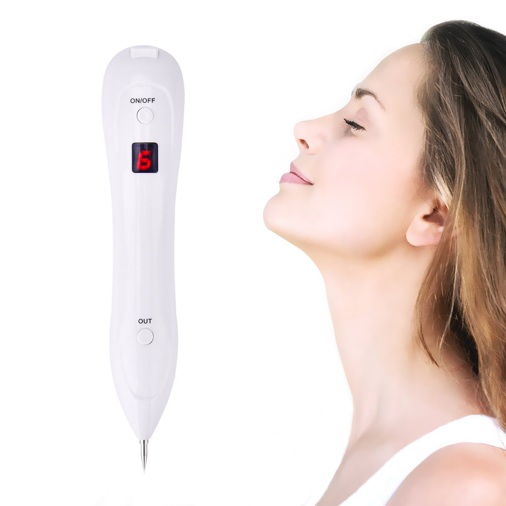 Acne Laser Facial Freckle Dark Spot Remover Tool With 15pcs Needles Tattoo Mole Removal Pen Wart Removal Machine Face Skin Care