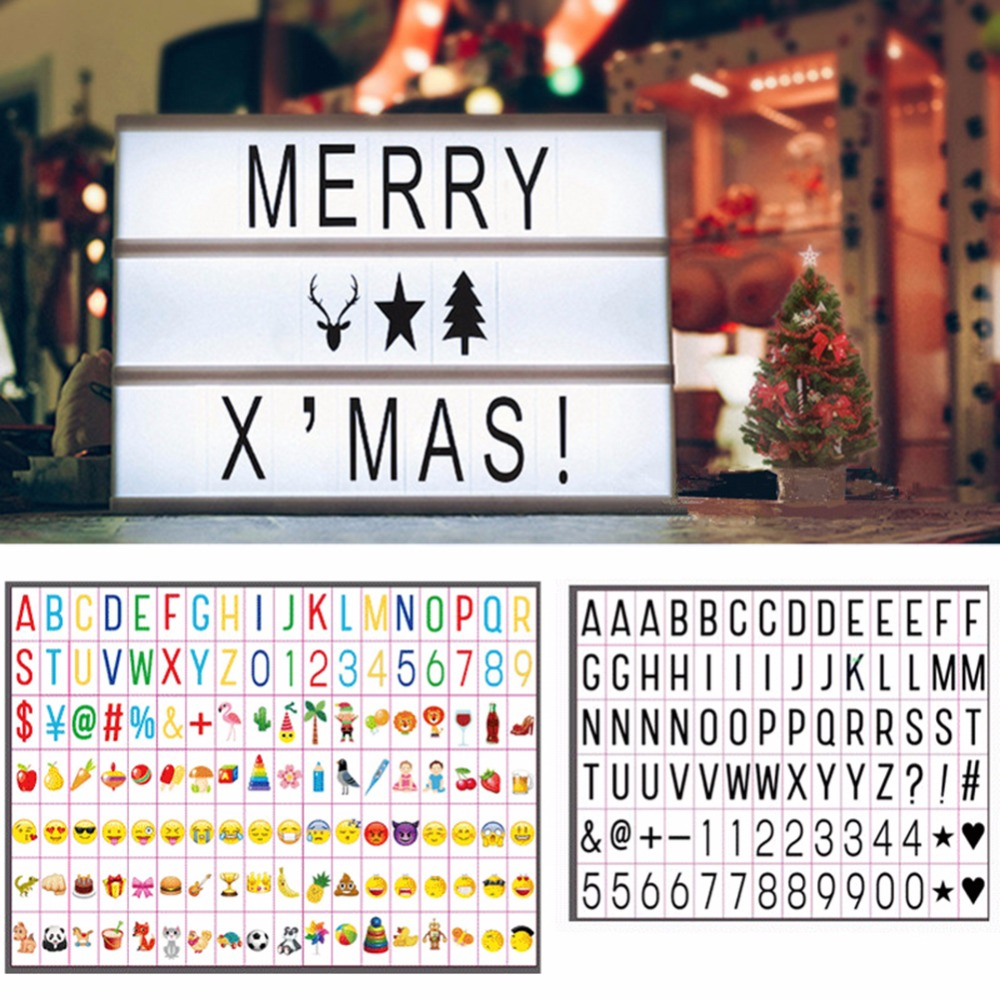 126 шт кинематографический светодиодный лайтбокс сменные буквы