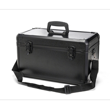 Large and high grade thickened aluminum alloy tool box Hardening and waterproof With storage partition tool case