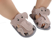Pudcoco 2020 Elephant pattern Baby Sandals Infant Boy Girl Summer Soft Sole Crib Toddler Shoes Anti-slip Kids Sandals 0-18 M(China)