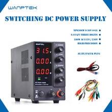 Wanptek – stabilisateur de tension réglable, NPS306W, 110V/220V, affichage à trois ou quatre chiffres, DC, alimentation 30V, 6A, 180W