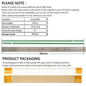 Image 5 - Новый комплект 2 шт. 60 светодиодов 602 мм Светодиодная лента для подсветки LG 55UF6450 55UH6150 55UF6430 6916L2318A 6916L2319A 6922L 0159A LC550EGE