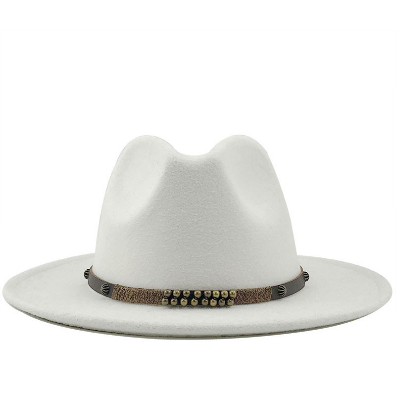Men Women Wide Brim Wool Felt Jazz Fedora Hats British Style Trilby Party Formal Panama Cap Black Yellow Dress Hat 56-58-60CM